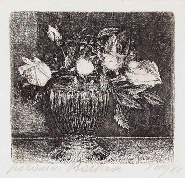 GIOVANNI BARBISAN - Vaso di rose