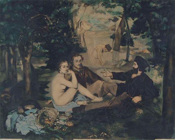 JACQUES VILLON - Omaggio a Manet Le Déjeuner sur l'Herbe