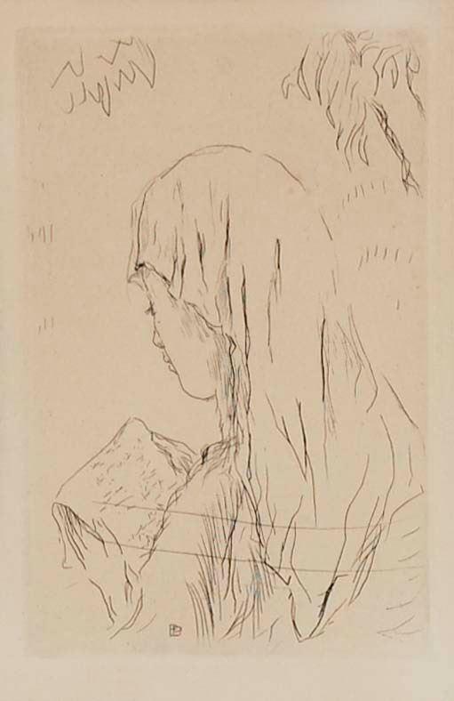 PIERRE BONNARD - Jeune fille lisant 1930