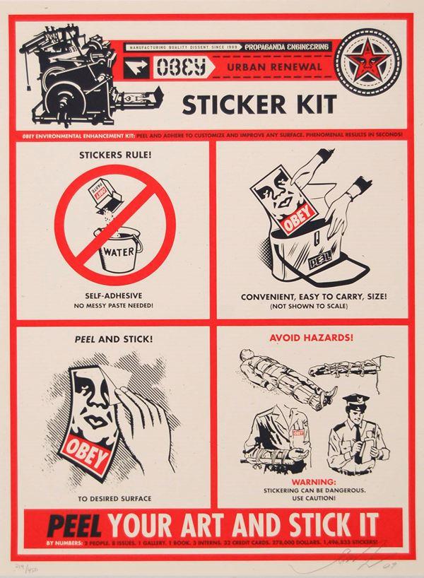 FRANK SHEPARD FAIREY - Sticker kit 2009