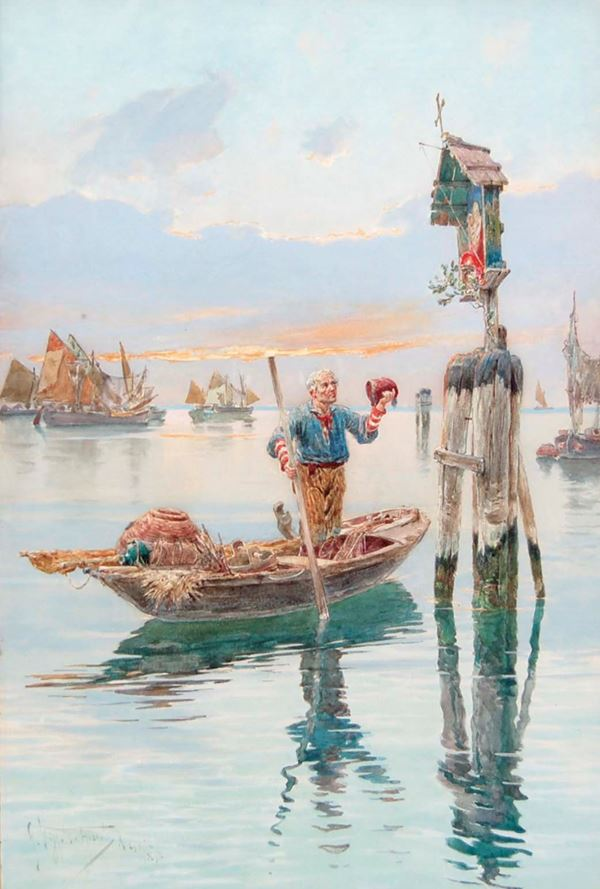 GIUSEPPE  VIZZOTTO ALBERTI - Pescatore 1898