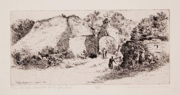 LINO BIANCHI BARRIVIERA - Portale seicentesco di villa Gamberale 1941