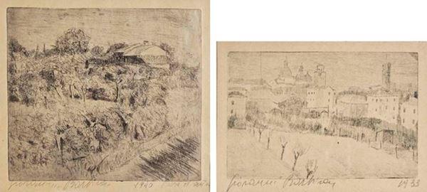 GIOVANNI BARBISAN - Campagna trevigiana 1940 - Paesaggio trevigiano 1933
