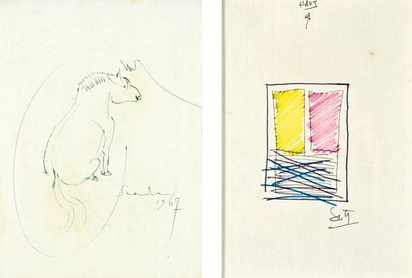EMILIO SCANAVINO,JESUS RAFAEL SOTO - Cavallo 1967 - Composizione