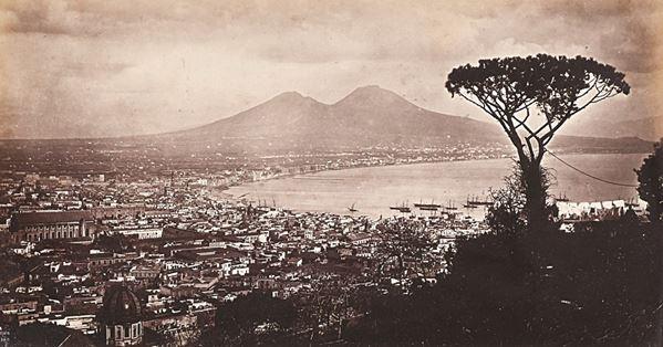 FRANCIS FRITH - Napoli con il Vesuvio