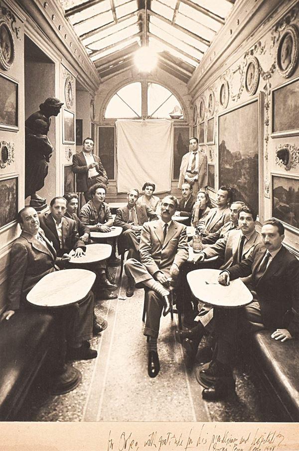 IRVING PENN - Groupe au Caffé Greco, Roma, Italia 12 ottobre 1948
