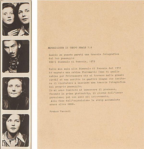 FRANCO VACCARI - Biennale di Venezia 1972. Esposizione in tempo reale n. 4. Lascia su queste pareti una traccia del tuo passaggio.