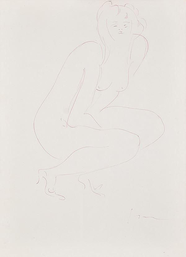 LUCIO FONTANA - Nudo femminile